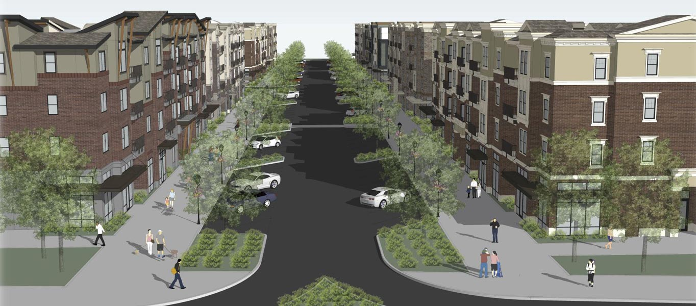 West End Rendering main street concept